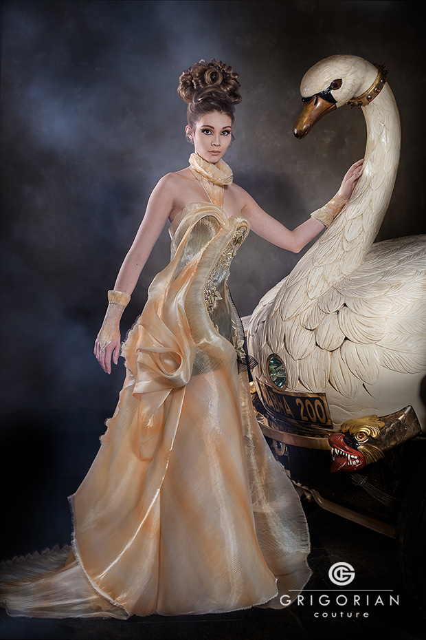 Swan dress at Masters of LXRY Design Edition